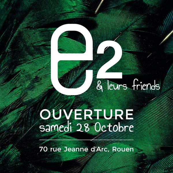 e2 boutique éphémère 70 rue Jeanne d'Arc à Rouen