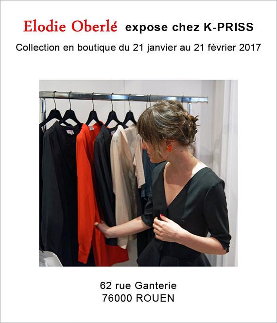 Elodie Oberlé expose chez K-PRISS à Rouen