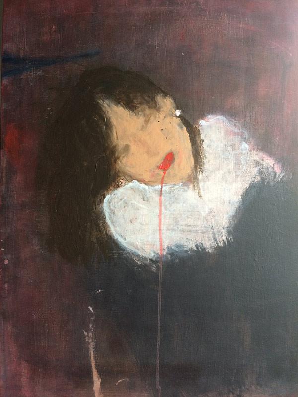 """""""Fin de carnaval-Venise"""" technique mixte sur toile, 60x80 cm, juin 2017"""
