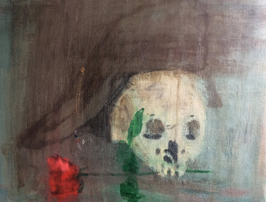 """""""Rideau""""- Technique mixte sur toile- 50x50cm"""