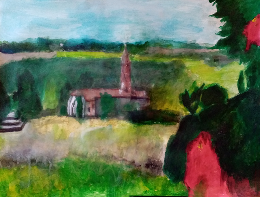 Corronsac, peinture Elodie Oberlé