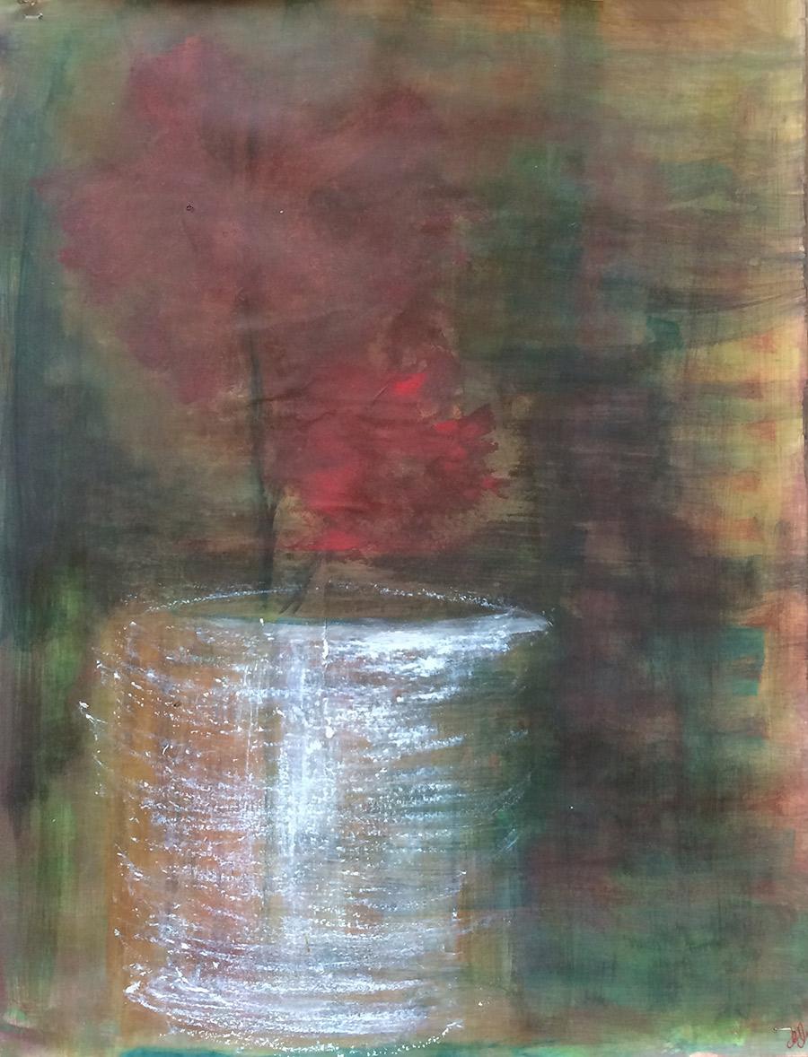 """"""" Vendredi 5 juillet """" -  technique mixte sur papier , 50 x 65 cm - 150 €"""